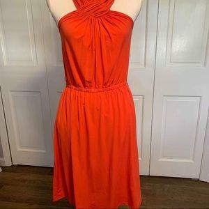 Outback Red Sleeveless Halter Neck Sheath Dress M